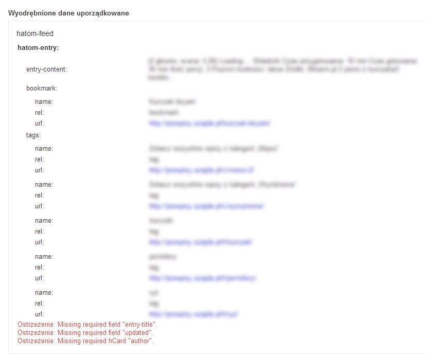 Błędy hentry w wordpress